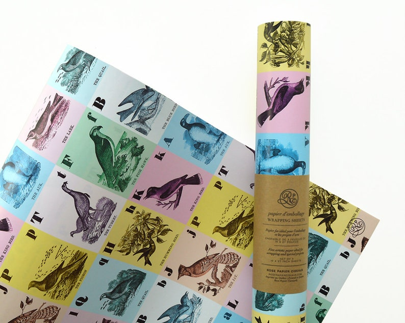 Wrapping Paper Little Birds // Gift Wrap Wrapping Sheets image 0