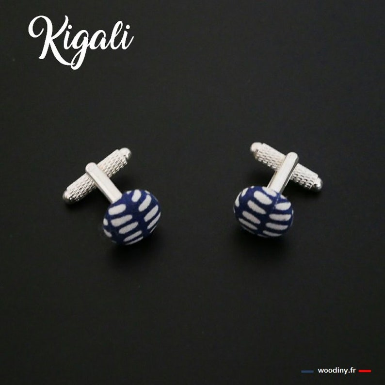 Kigali,-gift of fathers father and son-by woodiny witness Valentine/'s day wedding Cuff links