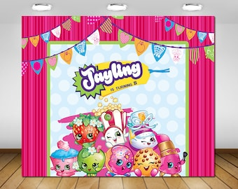 Printable Shopkins Party Backdrop, Shopkins Birthday Party Backdrop, Poster, Sign, Banner, Backdrop, Birthday Party, 72x60''
