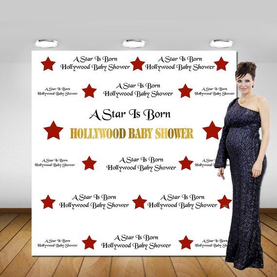 Printable A Star Is Born Hollywood Backdrop Photo Booth Etsy