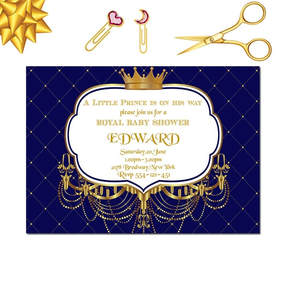 Royal baby shower invitation little prince baby shower etsy image 0 filmwisefo