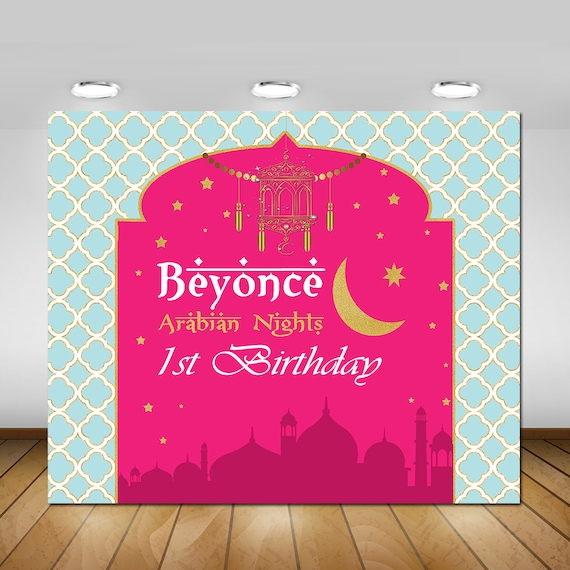 Printable Arabian Nights Party Backdrop Poster Sign Banner