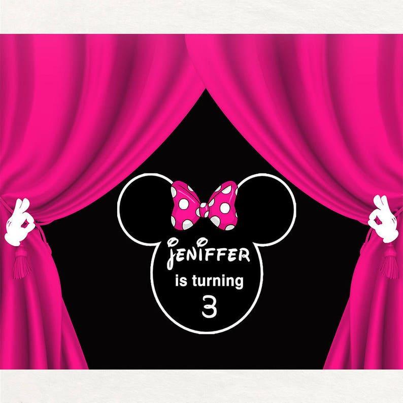 Stampabile Minnie Mouse Sullo Sfondo Rosa Minnie Mouse Etsy