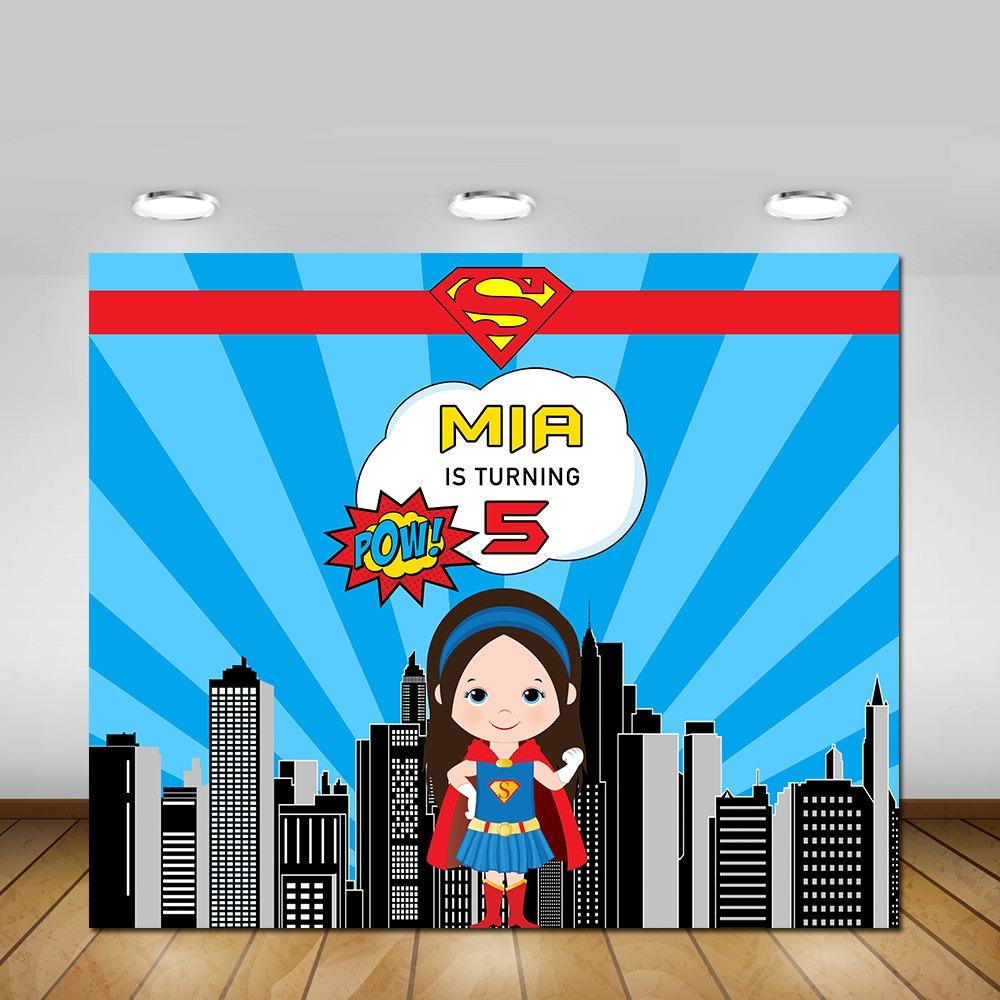 Superhero Backdrop Super Girl Printable