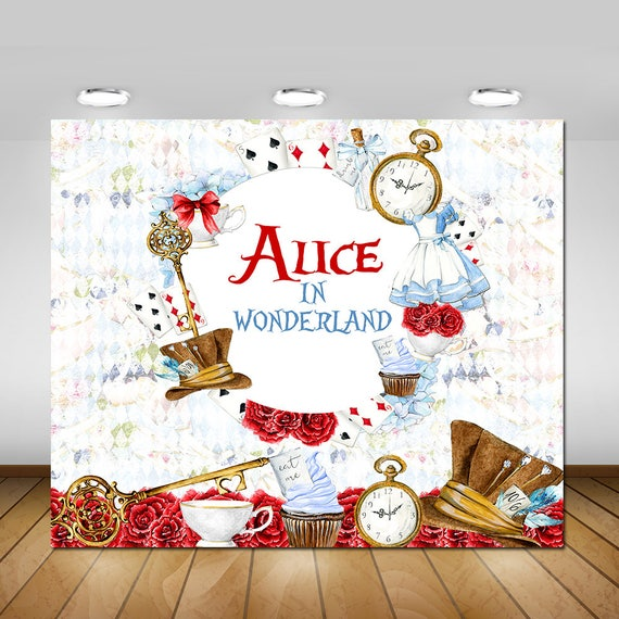 Printable Alice In Wonderland Backdrop Alice In Wonderland