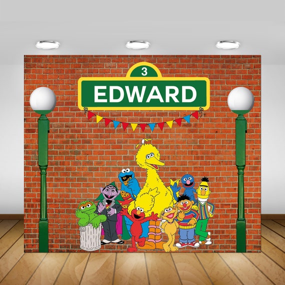 Sesame Street Birthday Party Backdrop Sesame Street ...