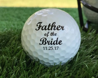Father of the Bride Wedding Gift Golf Ball Personalized Set of 3, FAST SHIPPING!!