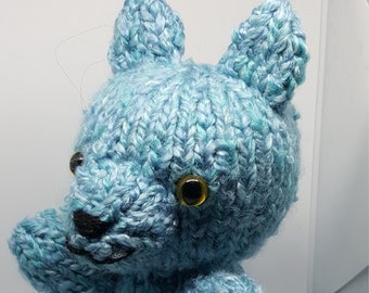 Knit Blue Cat