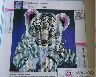Little White Tiger Diamond Art