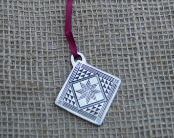 Nurses Quilt Ornament from Danforth Pewterers Made in the USA
