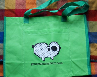 large project bag, tote bag free offer with purchase, may be purchased separately, Bailey Farm sheep design project bag