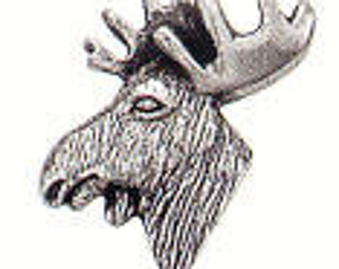 Danforth Button: MOOSE  pewter button
