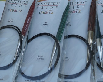 47 Inch circular wood knitting needles from Knitters Pride Dreamz