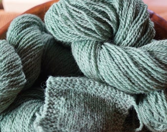 Meadow Green Sport yarn from our American farm