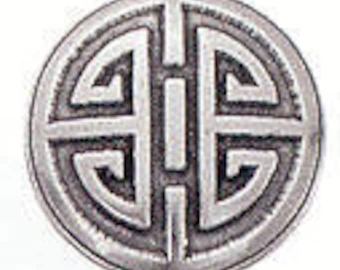 Danforth Button: Oriental Round  pewter button