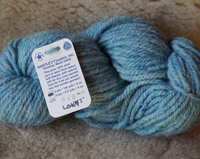 LOVAT 3 ply bulky chunky or 2 ply worsted wool Glen tweed, free shipping offer, Bartlettyarn sale