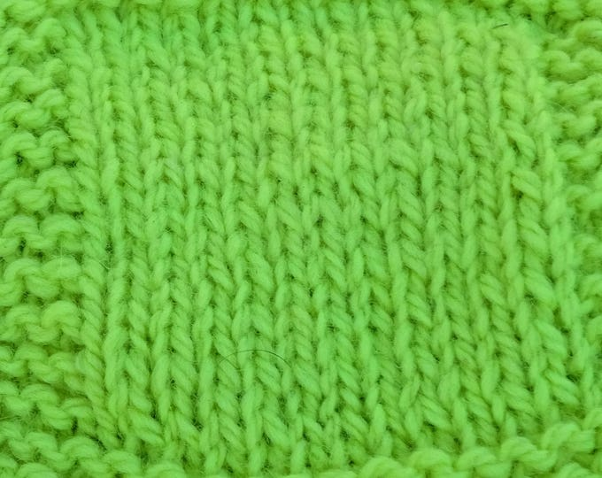 Kryptonite Green hand dyed worsted weight soft wool yarn from our small American farm, free shipping