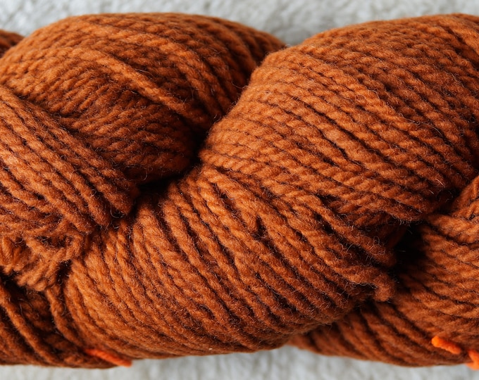 Wattlebark bulky 2 ply soft wool yarn from our American farm, free shipping