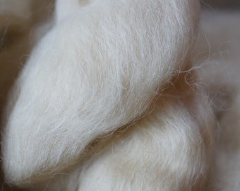 Masham breed wool top for handspinning, 8 oz bag, free shipping offer