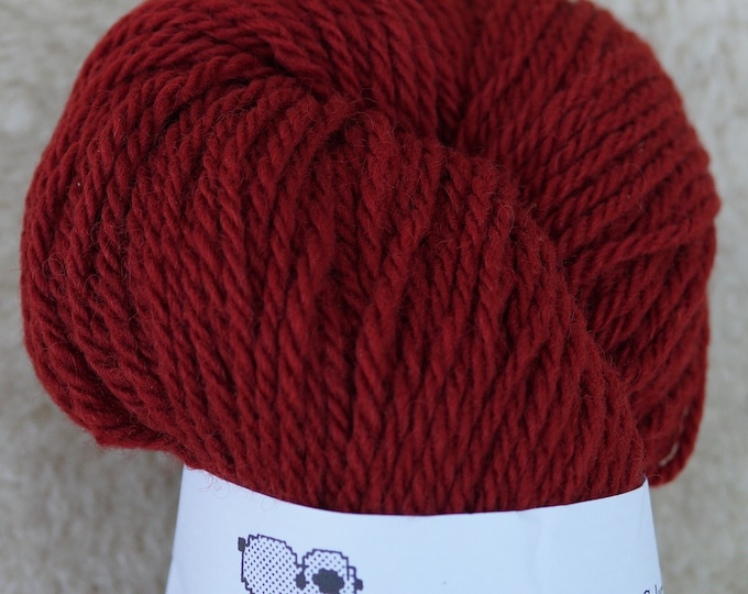 Garnet bulky 3 ply soft wool yarn from our American farm, free shipping offer