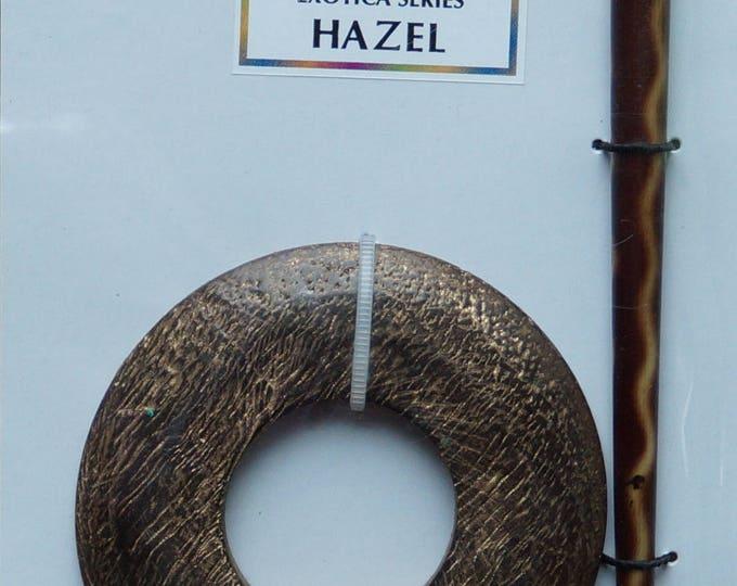 Shawl Pin: Hazel textured wood shawl pin
