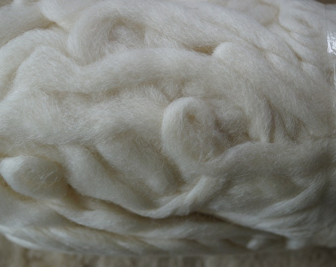 Northern Lights undyed bare merino wool roving, sale price