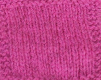 Neon Pink Sport Weight 2 ply wool hand dyed yarn from our American farm free shipping offer
