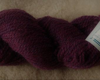 Peace Fleece Moldova Burgundy wool and mohair 2 ply yarn