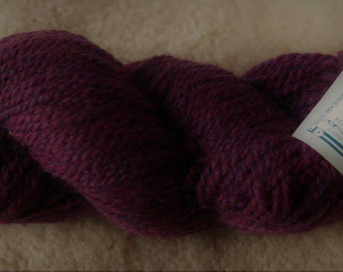 Peace Fleece Moldova Burgundy wool and mohair 2 ply yarn