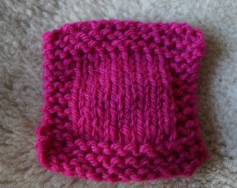 Passion Pink bulky 3 ply wool yarn from our American farm free shipping offer