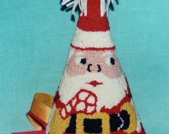 Rug Hooking Kit Santa Cone on burlap free shipping offer