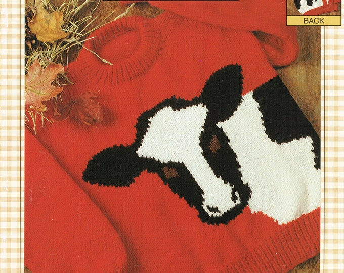 eweCanknit The Cow family sizing knit patterns digital