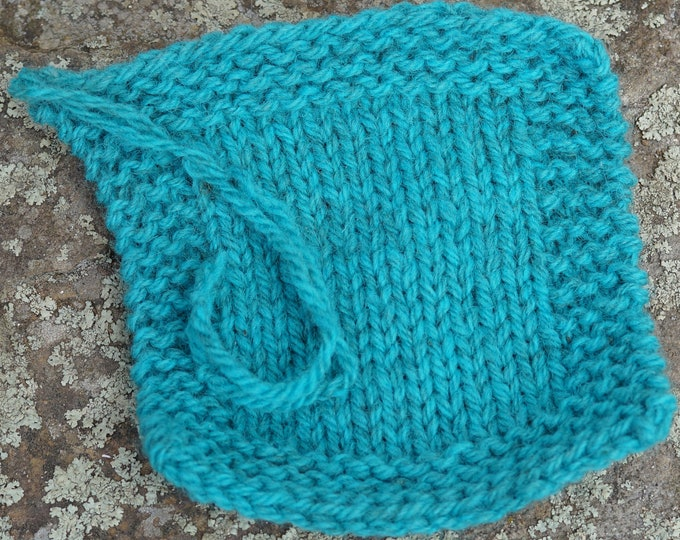 Aqua worsted weight 2 ply soft wool kettle dyed yarn from our small USA farm, free shipping