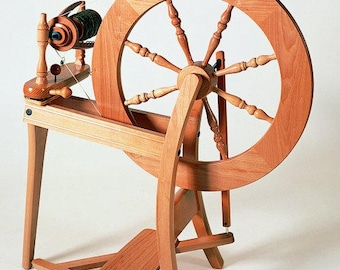 Spinning wheel Ashford Traditional Single treadle double drive with clear finish
