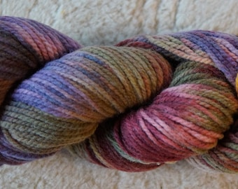 Country Garden III worsted hand painted soft wool yarn from our Amrican wool farm, free shipping