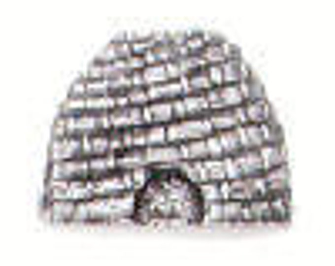 Danforth Button: BEE SKEP pewter  button