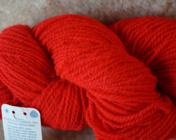 SCARLET 2 ply worsted weight wool yarn from Bartlettyarns free shipping offer clearance sale priced