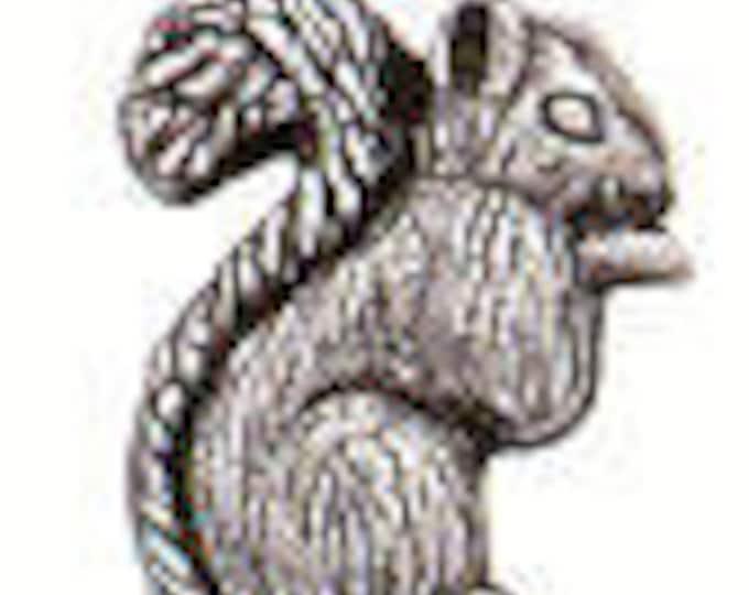 Danforth Button: SQUIRREL  pewter shank button
