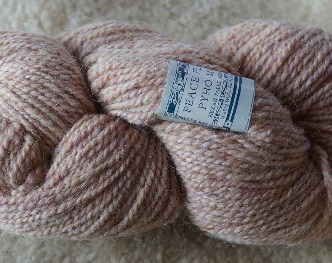 Peace Fleece Yanbalaka Blossom wool and mohair 2 ply worsted weight yarn