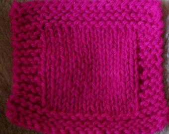 Neon Pink bulky 3 ply kettle dyed farm yarn from our American farm free shipping offer