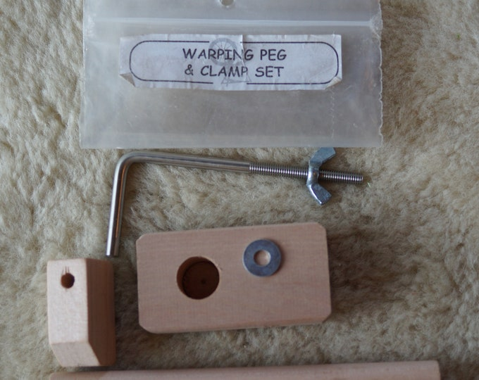 Ashford warping peg and clamp
