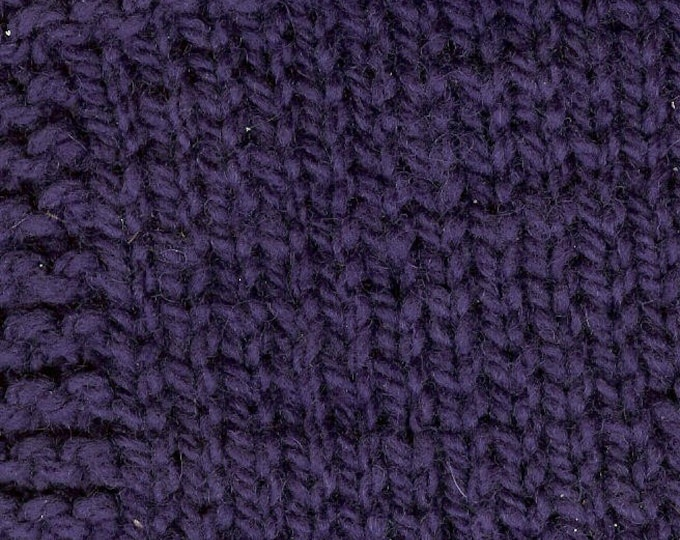 Plum 3 ply hand dyed wool worsted weight yarn from our USA farm free shipping