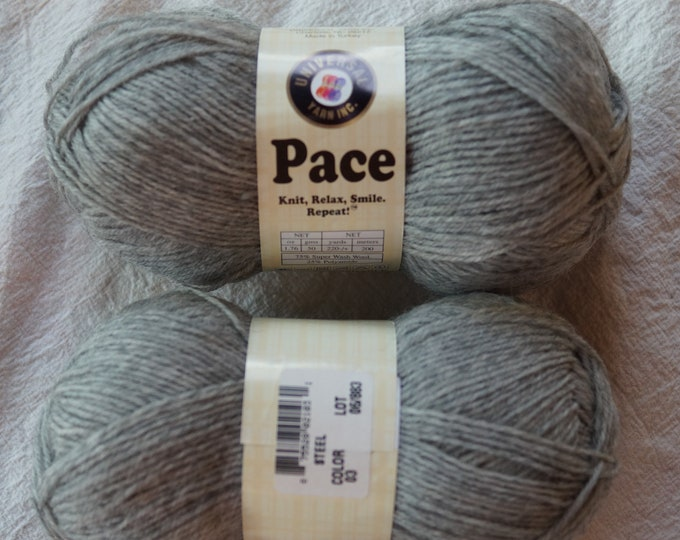 Pace Steel sock yarn sale, machine washable fingering weight wool mohair