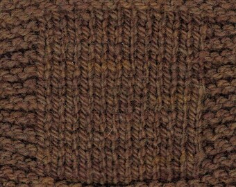 Chestnut worsted weight soft wool kettle dyed wool yarn from our American farm free shipping offer made in the USA