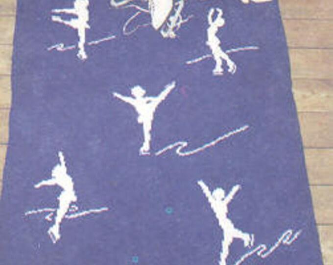 eweCanknit Skater's Afghan knitting pattern. Uses chunky yarn