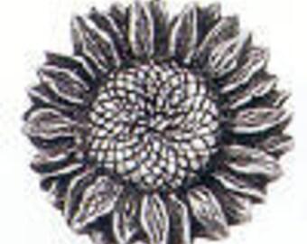 Danforth Button: SUNFLOWER pewter  shank button