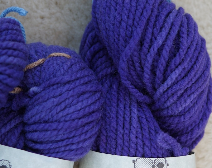 Mulberry bulky 2 ply soft wool farm yarn kettle dyed from our American farm free shipping offer