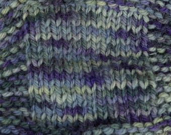 worsted weight yarn: Lichens & Violets 3 ply worsted weightt wool yarn