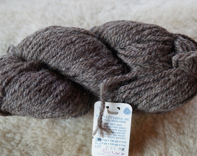DARK SHEEPS GRAY bulky wool yarn 3 ply Bartlettyarn sale price