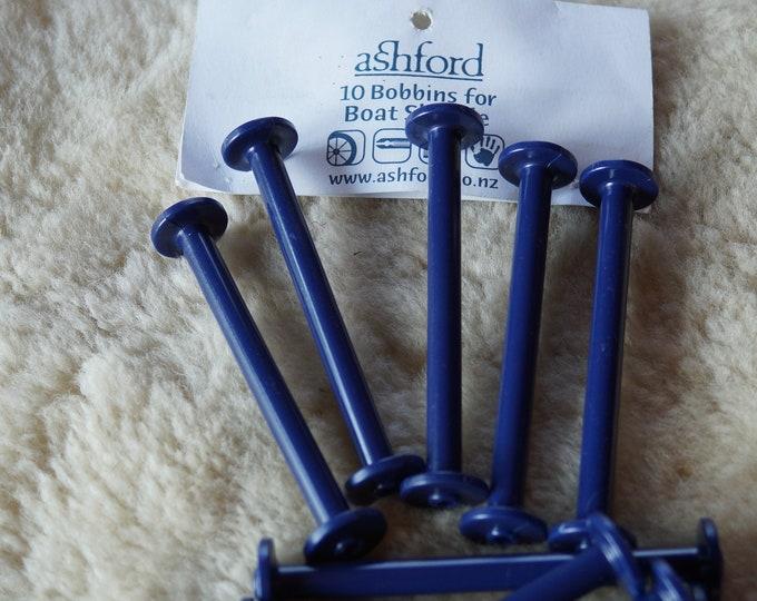 Ashford boat shuttle bobbins blue plastic